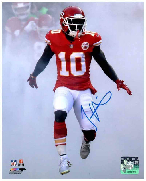 Tyreek Hill Signed Game Entrance SMOKE! 8x10 Photo