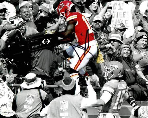 Tyreek Hill Signed Spotlight Behind TV Camera Horizontal 8x10 Photo