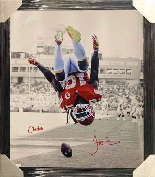 "Tyreek Hill Signed Spotlight Flip 16x20 Canvas with ""Cheetah"" - Professionally Framed"