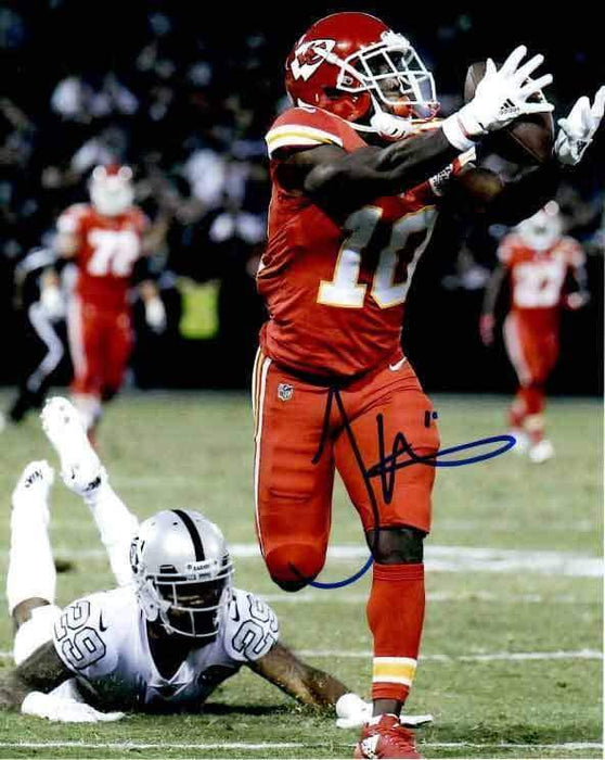 Tyreek Hill Signed Vs Raiders Vertical 8x10 Photo