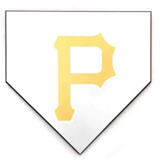 Unsigned Blank Home Plate with Yellow P