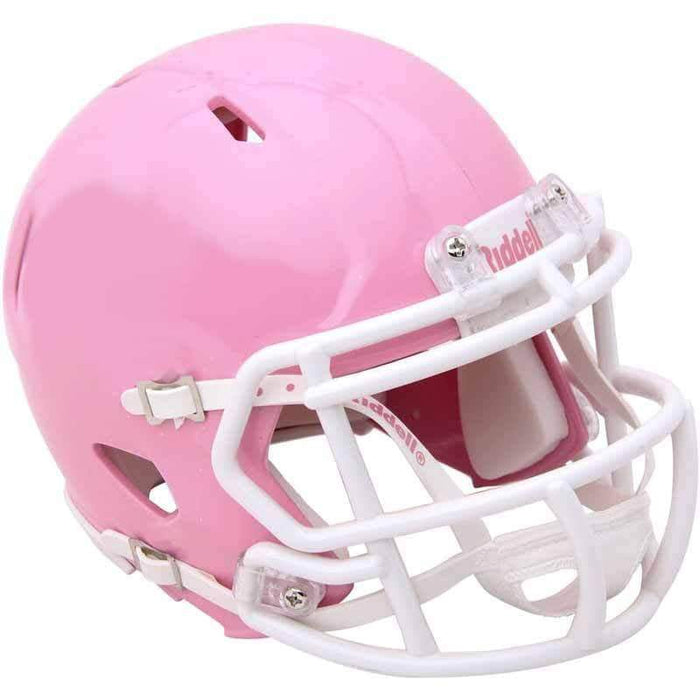 Unsigned Blank Riddell Pink Speed Mini Helmet