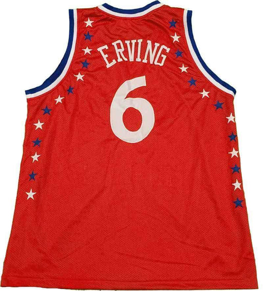 Unsigned Dr. Julius Erving Red Custom Stitched Basketball Jersey Size XL New No Brands/Logos