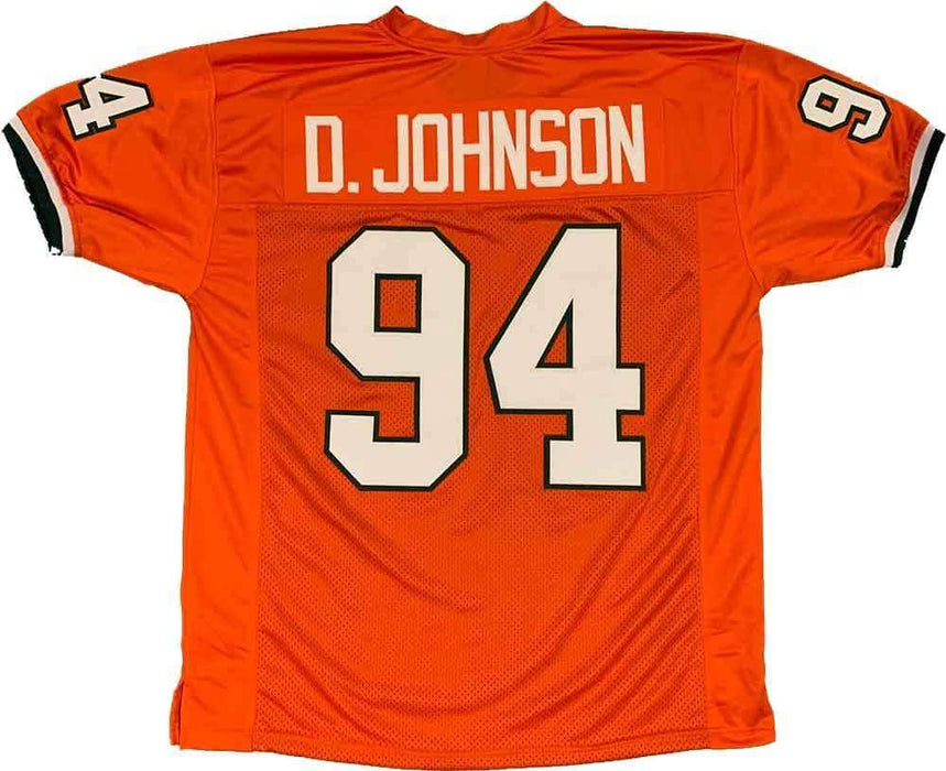 Unsigned Dwayne Johnson Miami Orange Custom Stitched Football Jersey Size XL New No Brands/Logos