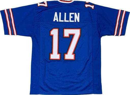 Unsigned Josh Allen Buffalo Blue Custom Stitched Football Jersey Size XL New No Brands/Logos