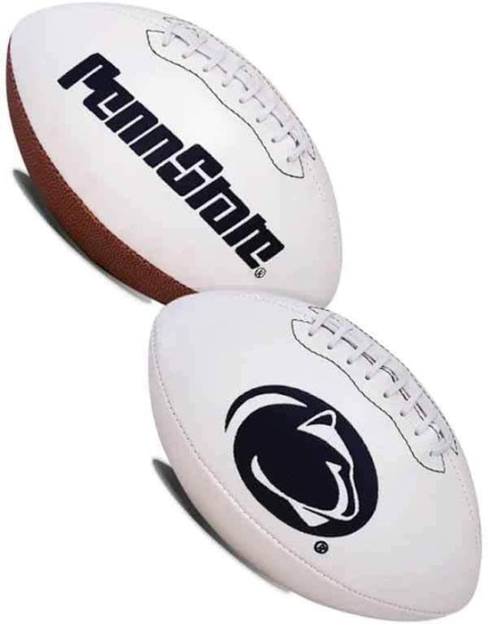 Unsigned Penn State White Logo Football