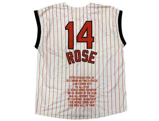 Unsigned Pete Rose Cincinnati Pinstripe Custom Stitched Baseball Jersey Size XL New No Brands/Logos