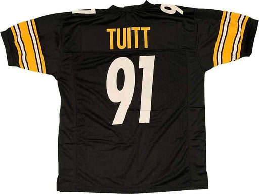 Unsigned Stephon Tuitt Pittsburgh Black Custom Stitched Football Jersey Size XL New No Brands/Logos