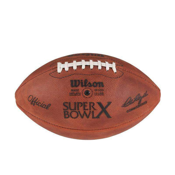 Unsigned Super Bowl X ( vs Cowboys) Official Leather Authentic Game Football by Wilson
