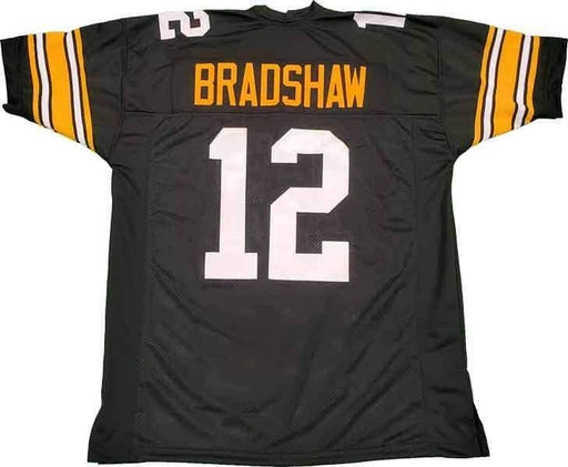 Unsigned Terry Bradshaw Pittsburgh Black Custom Stitched Football Jersey Size XL New No Brands/Logos