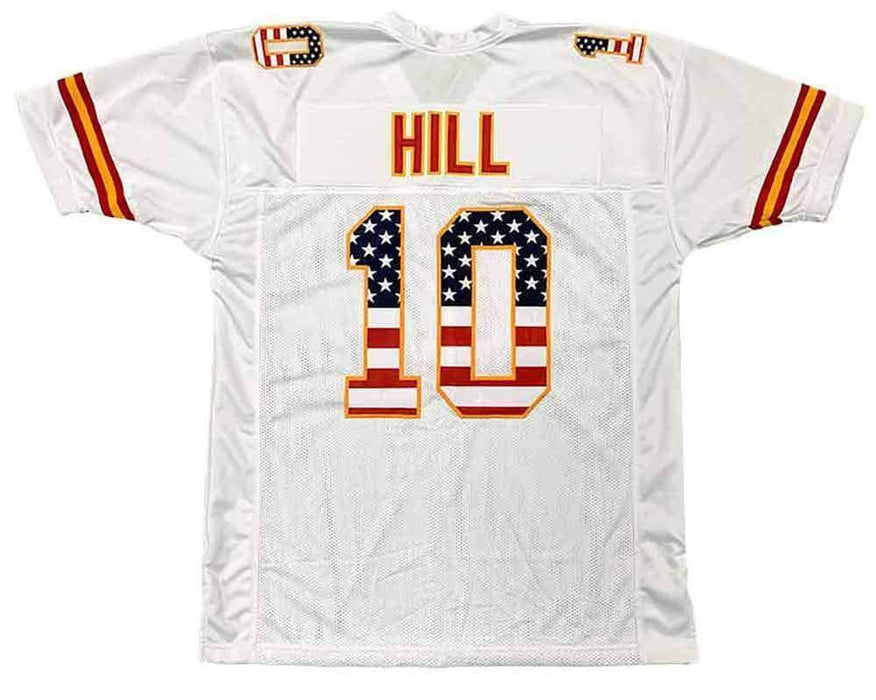 Unsigned Tyreek Hill Kansas City White Stars & Stripes Custom Stitched Football Jersey Size XL New No Brands/Logos