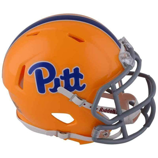 Unsigned University of Pittsburgh Riddell Throwback Script Mini Replica SPEED Helmet