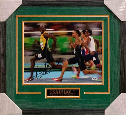 Usain Bolt Autographed 11x14 You Can't Catch Me - Professionally Framed Default Title