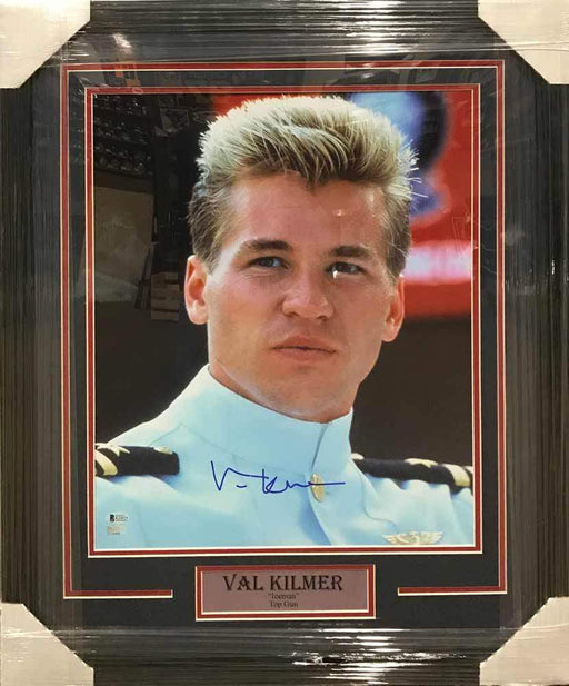 Val Kilmer Autographed 16x20 Iceman in Dress Uniform Top Gun Photo - Professionally Framed