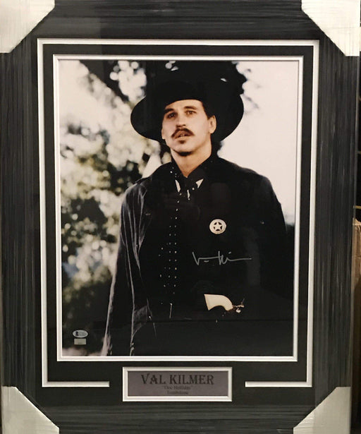 Fan Photo CELEBRITY Val Kilmer Autographed 16x20 Photo Doc Holiday - Professionally Framed