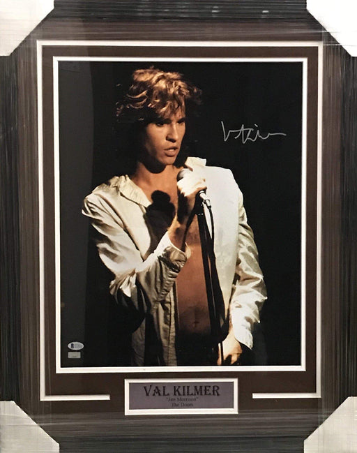 Fan Photo CELEBRITY Val Kilmer Autographed 16x20 Photo The Doors - Professionally Framed
