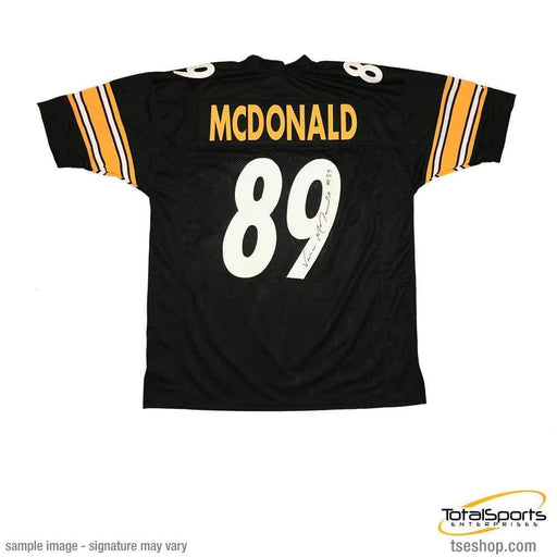 Signed STEELERS Jerseys Vance McDonald Autographed Black Custom Jersey