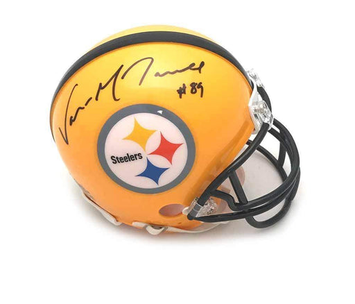 Signed STEELERS Mini Helmets Vance McDonald Signed Pittsburgh Steelers 75th Anniversary Mini Helmet
