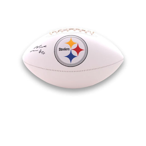 Vince Williams Autographed Pittsburgh Steelers White Logo Football