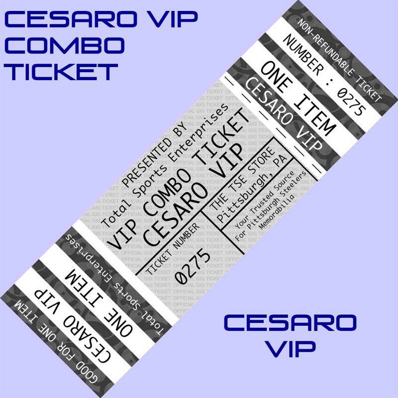 VIP COMBO TICKET: Get ANY ITEM OF YOURS Signed by and Posed Picture with Cesaro
