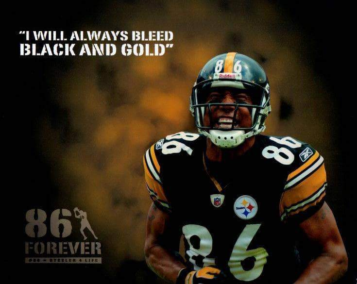 "Ward Custom ""I Will Always Bleed Black and Gold"" Unsigned 8x10 Photo"
