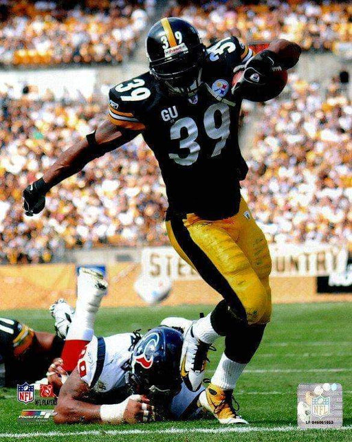 Willie Parker Running in Black vs. Texans Unsigned Licensed 8x10