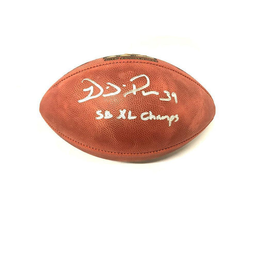 Willie Parker Signed Authentic SBXL Football with SB XL Champs