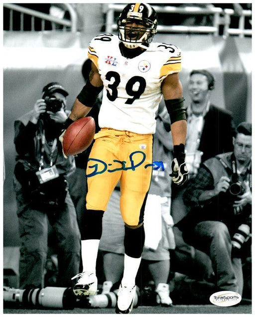 Willie Parker Signed Holding Football Custom 8x10 Photo