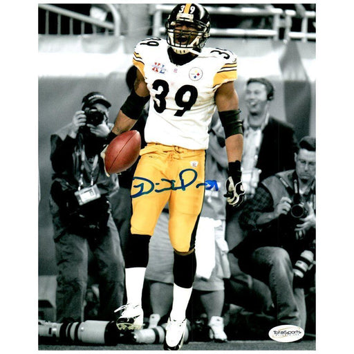 Willie Parker Signed Holding Football Custom Framed 16x20 Photo