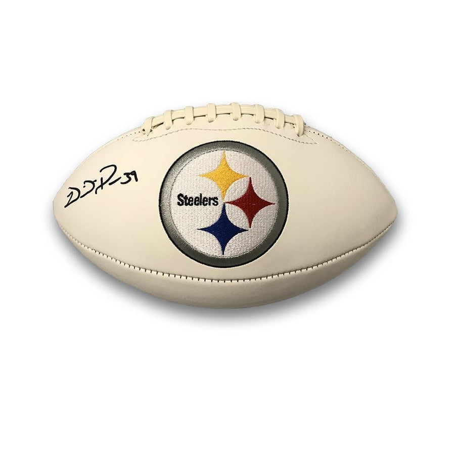 Willie Parker Signed Pittsburgh Steelers White Logo Football