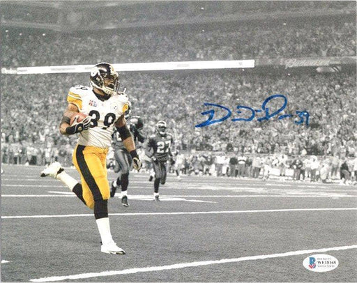 Willie Parker Signed Running With Ball Custom 8X10 Photo