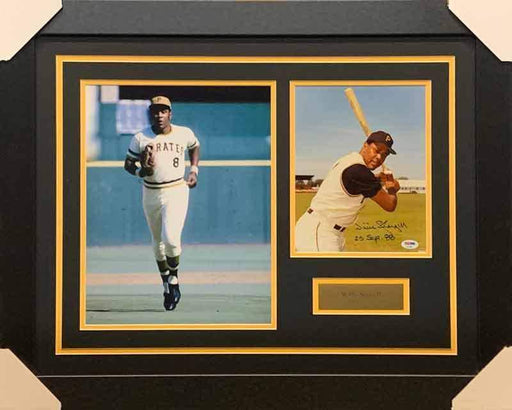 Willie Stargell Signed Posed with Bat 8x10 Photo with Running 11x14 Photo - Professionally Framed