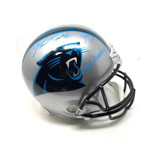 Yetur Gross-Matos Autographed Carolina Panther Full Size Replica Helmet with Keep Pounding
