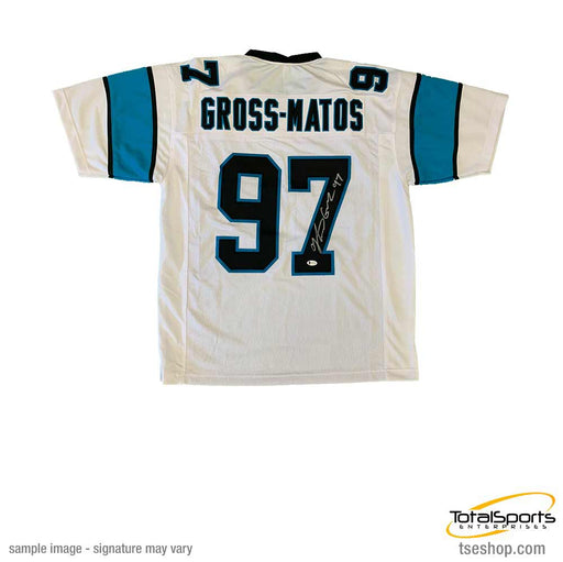 Yetur Gross-Matos Autographed Custom White Pro Jersey