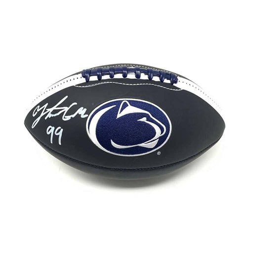 Yetur Gross-Matos Autographed Penn State Logo Football