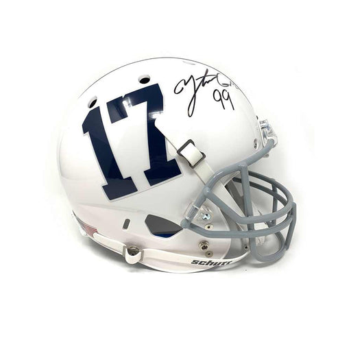 Yetur Gross-Matos Autographed Penn State Replica #17 Speed Helmet