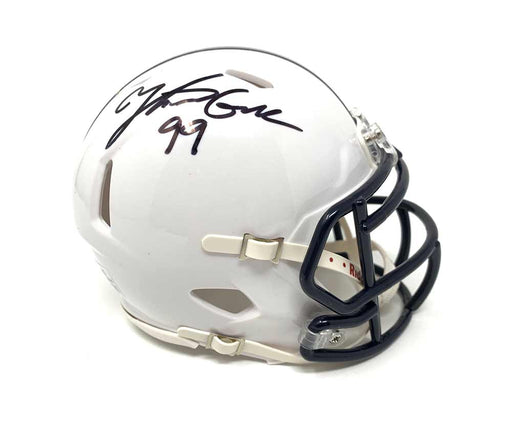 Yetur Gross-Matos Autographed Penn State Speed Mini Helmet (Blue Mask)