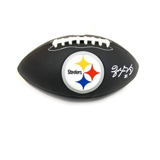 Zach Gentry Signed Pittsburgh Steelers Black Logo Football