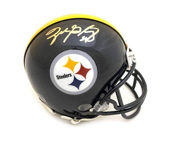 Zach Gentry Signed Pittsburgh Steelers Black Mini Helmet