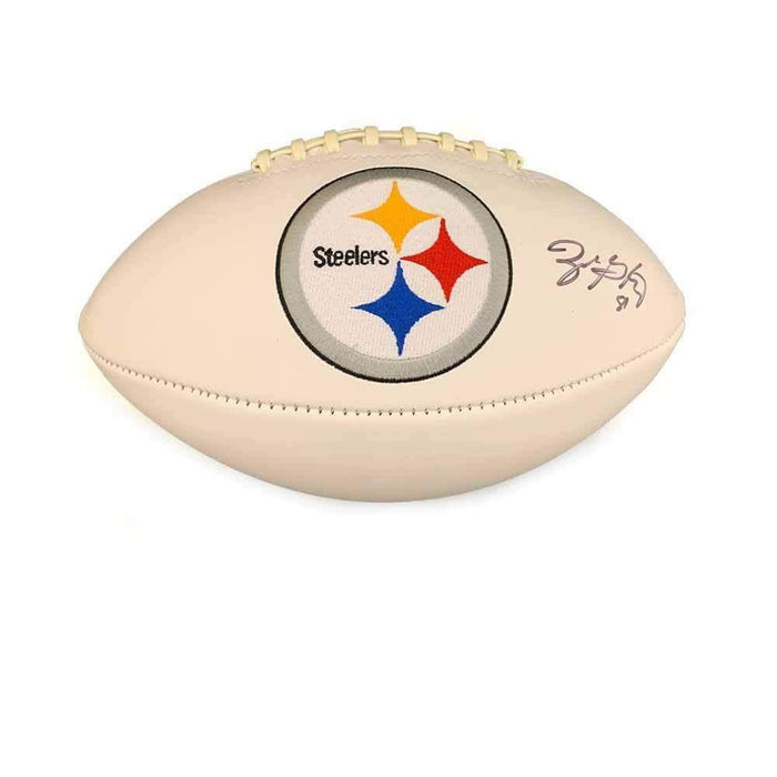 Zach Gentry Signed Pittsburgh Steelers White Logo Football