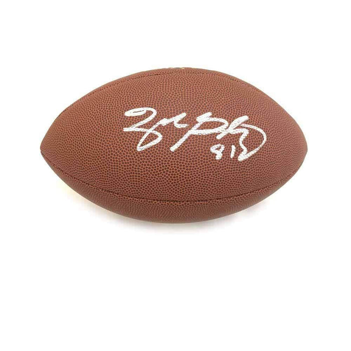 Zach Gentry Signed Wilson Replica Football