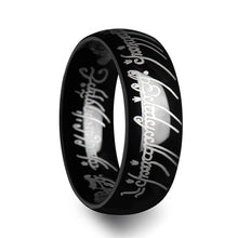 GLORFINDEL Lord of the Rings Black Tungsten Ring The One Engraved Sauron's Band - 6 mm - 10 mm