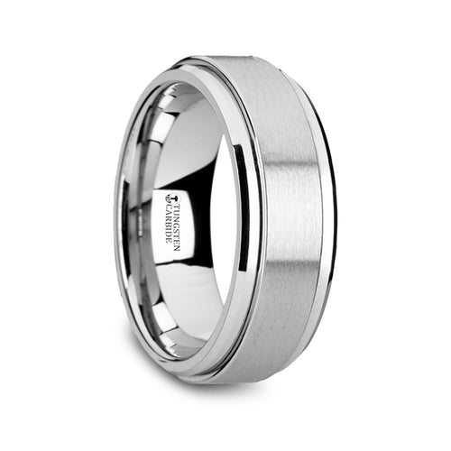 EVOLVE Tungsten Carbide Spinner Ring Spinning Wedding Band - 8mm