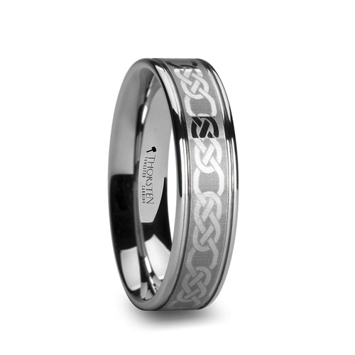 DORAN Tungsten Carbide Ring with Celtic Pattern 6mm - 10mm