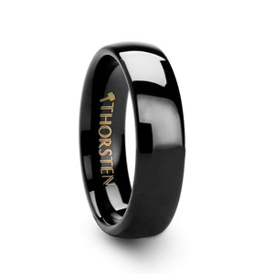 BARTON Rounded Black Tungsten Carbide Ring - 4mm & 6mm