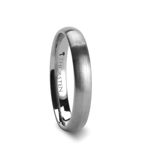 LEIGH Brushed Finish Rounded Tungsten Carbide Ring - 2mm - 12mm