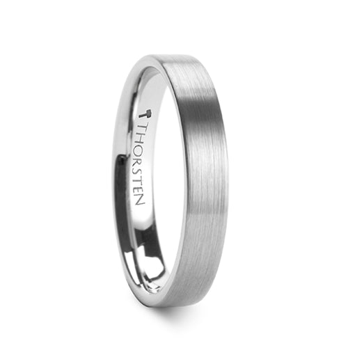 DAVIS Pipe Cut Brush Finish Tungsten Carbide Ring - 4mm - 12mm