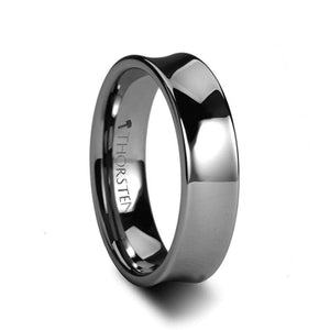 LUNA Tungsten Carbide Concave Ring - 4mm & 6mm