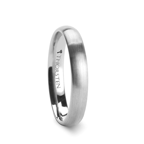 COLETTE Rounded Tungsten Carbide Ring with Brushed Finish - 4mm & 6mm