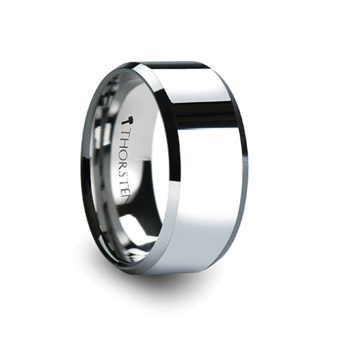 HUDSON Beveled Tungsten Carbide Ring - 10mm